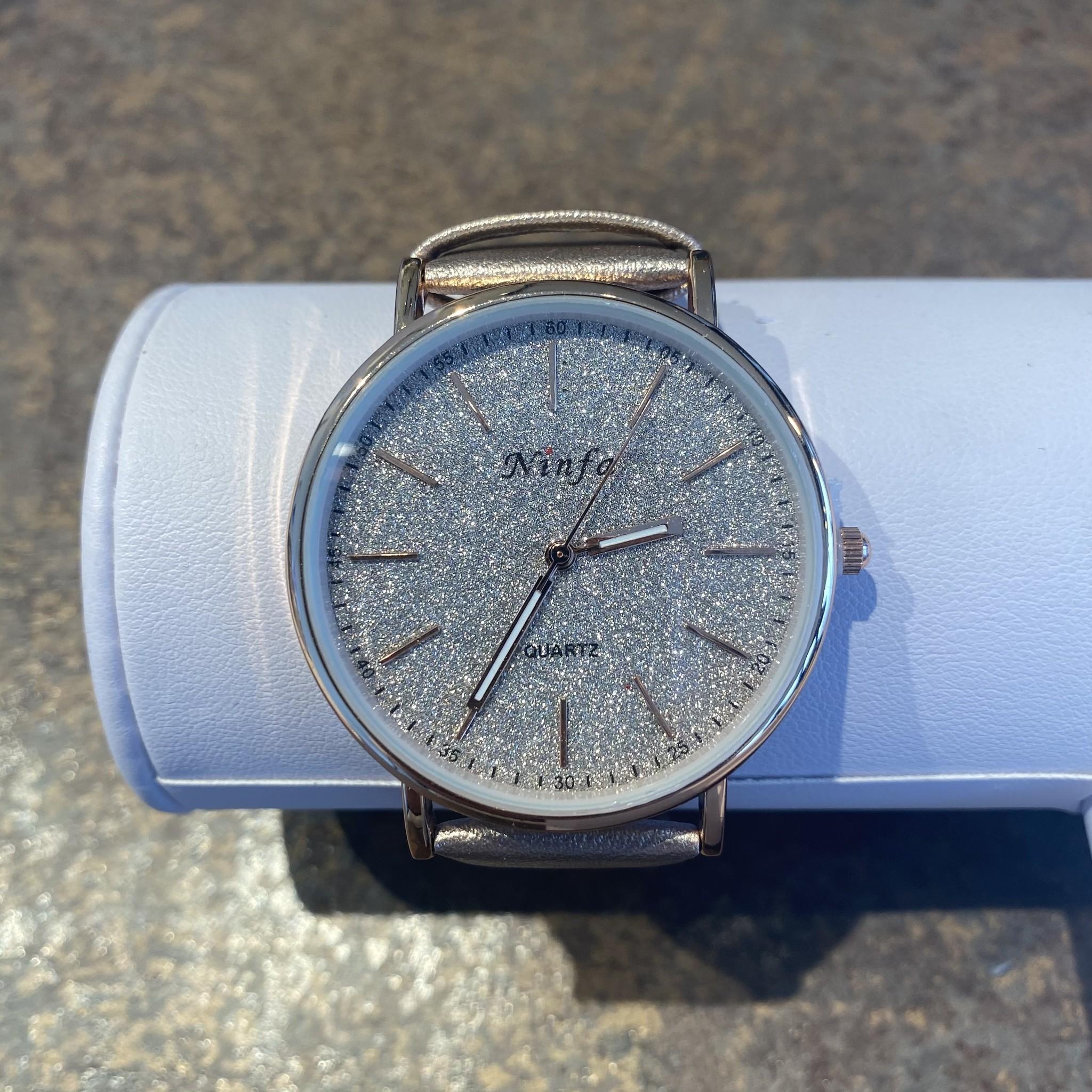 Horloge silver rosegold
