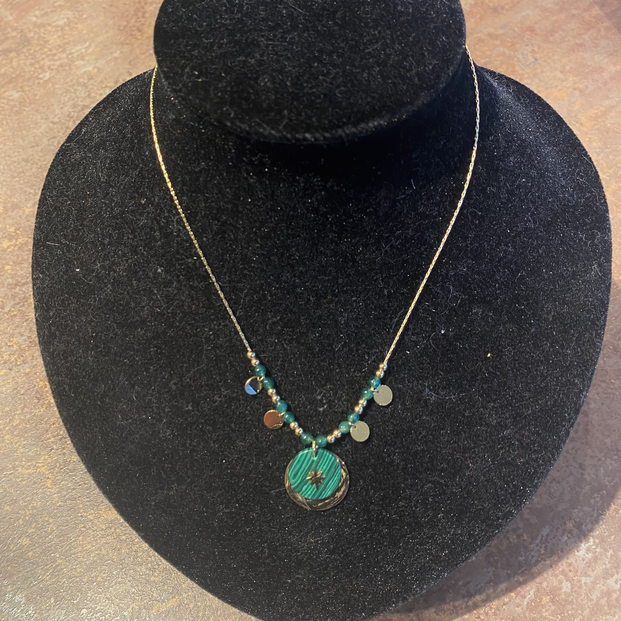 Necklace green