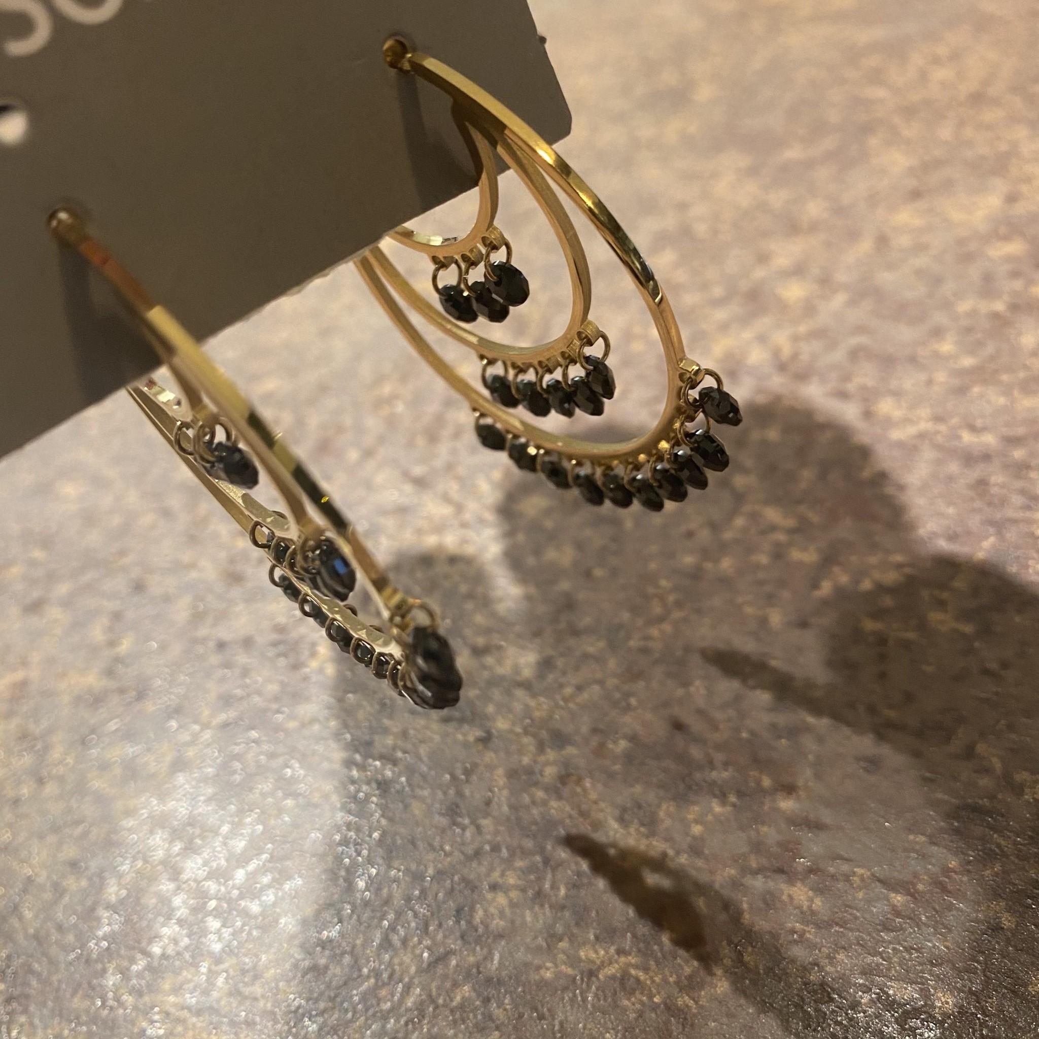 Hoops black diamonds
