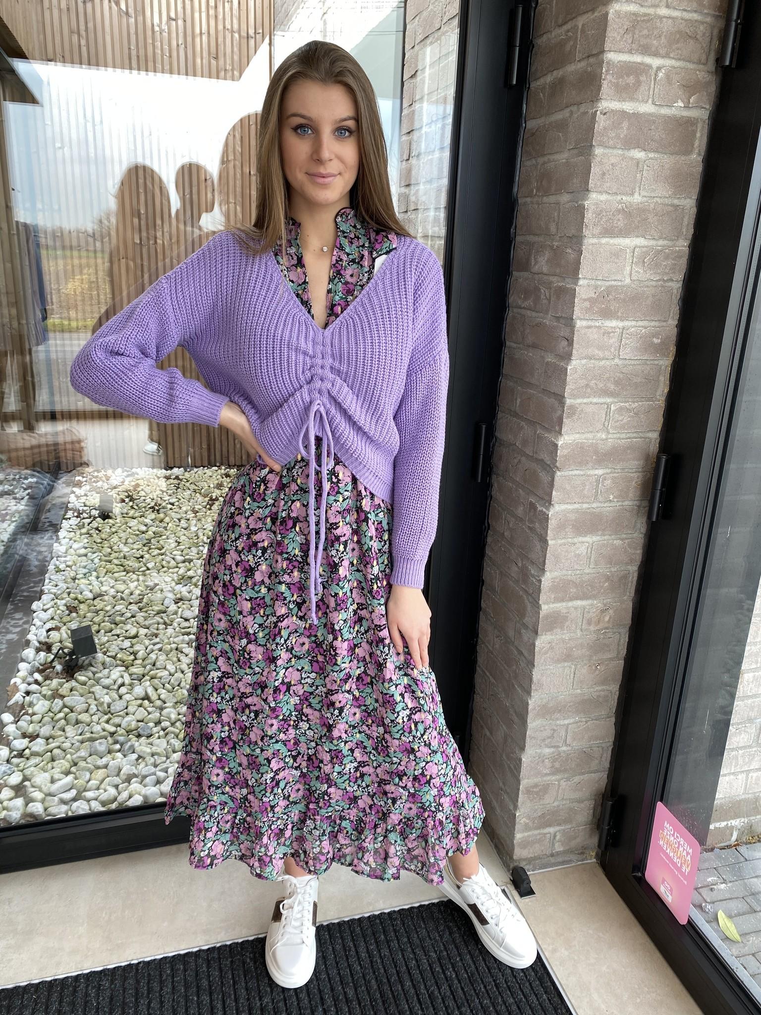 Dress Julie long pink/purple
