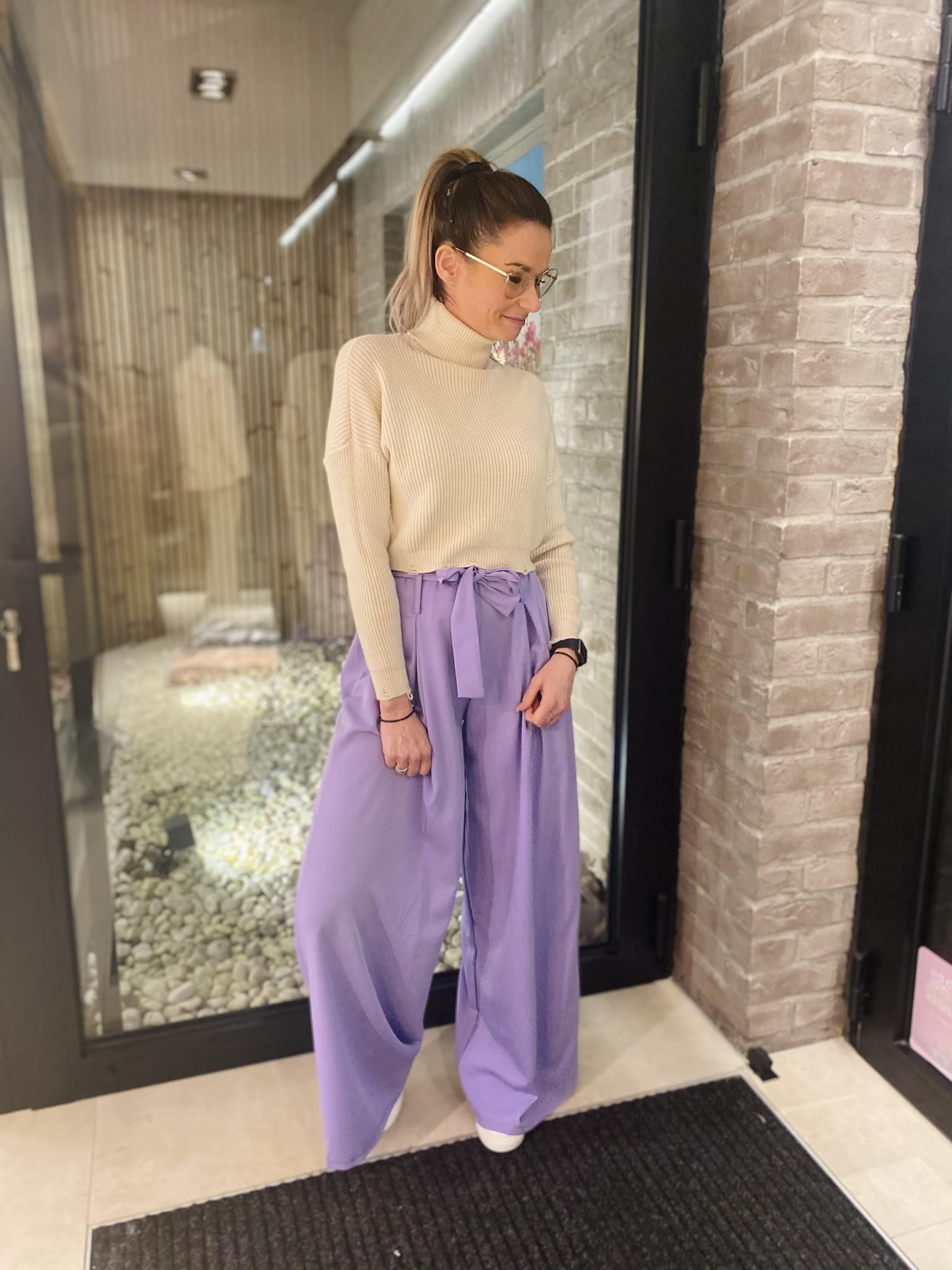 Trousers Lola lila TU