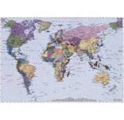 Komar World Map Fotobehang 270x188cm