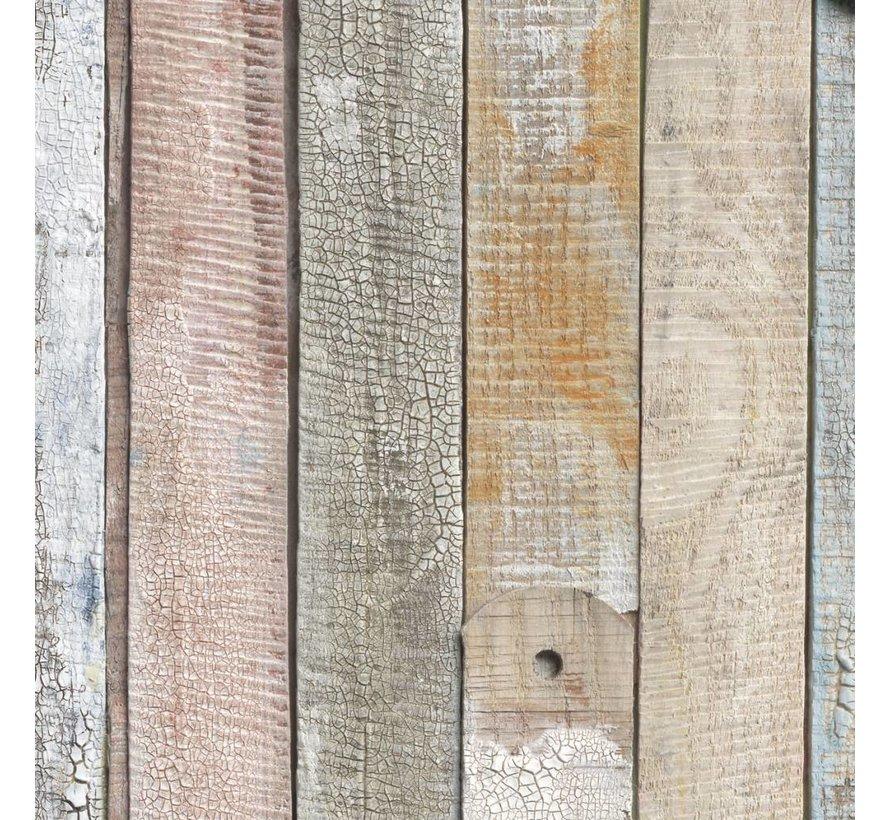 Vintage Wood Fotobehang 184x254cm 4-delig