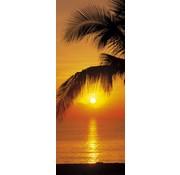 Komar Palmy Beach Sunrise Fotobehang 92x220cm