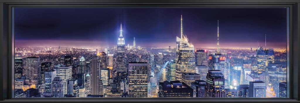 Foto Behang New York.Komar Sparkling New York Fotobehang 368x127cm Kopen Yourdecoration