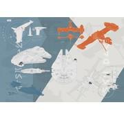 Komar Star Wars Technical Plan Fotobehang 368x254cm