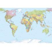 Komar World Map Vlies Fotobehang 368x248cm