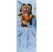 Papermoon Bursting Tiger Vlies Fotobehang 90x200cm