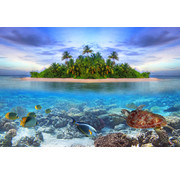 Papermoon Marine Malediven Vlies Fotobehang 350x260cm