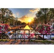 Papermoon Amsterdam Zonsopgang Vlies Fotobehang 350x260cm