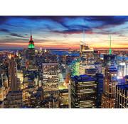 Papermoon New York at Dusk Vlies Fotobehang 350x260cm
