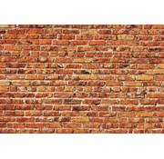 Papermoon Rode Baksteen Muur Vlies Fotobehang 350x260cm