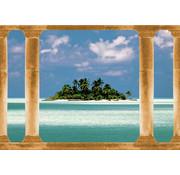 Papermoon Palmeiland Vlies Fotobehang 350x260cm