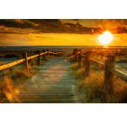 Papermoon Zonsondergang Strand Vlies Fotobehang 350x260cm