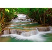 Papermoon Waterval  Vlies Fotobehang 350x260cm