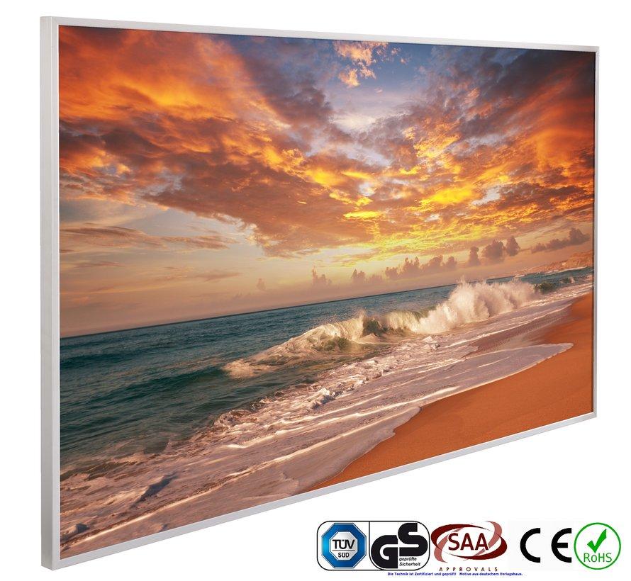 Zonsondergang op het strand Infraroodverwarmingspaneel 60x100cm 600W