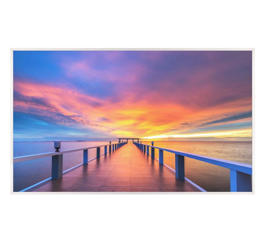 Houtenbrug bij de haven Infraroodverwarmingspaneel 60x100cm 600W