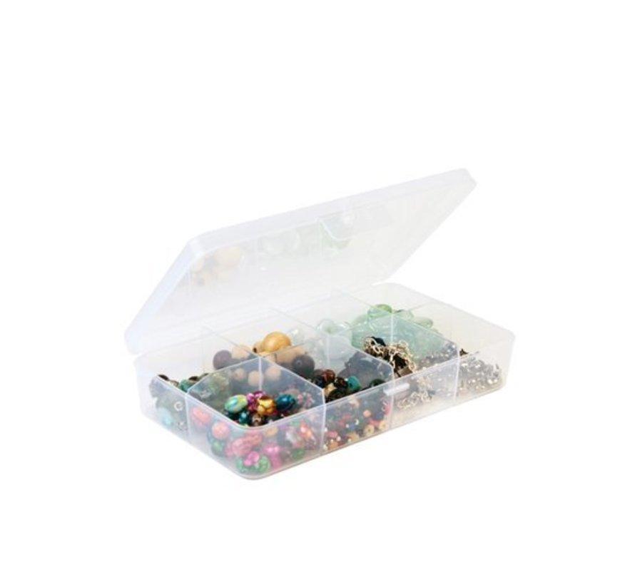 Sunware Q-Line Box Transparant 8-Vaks