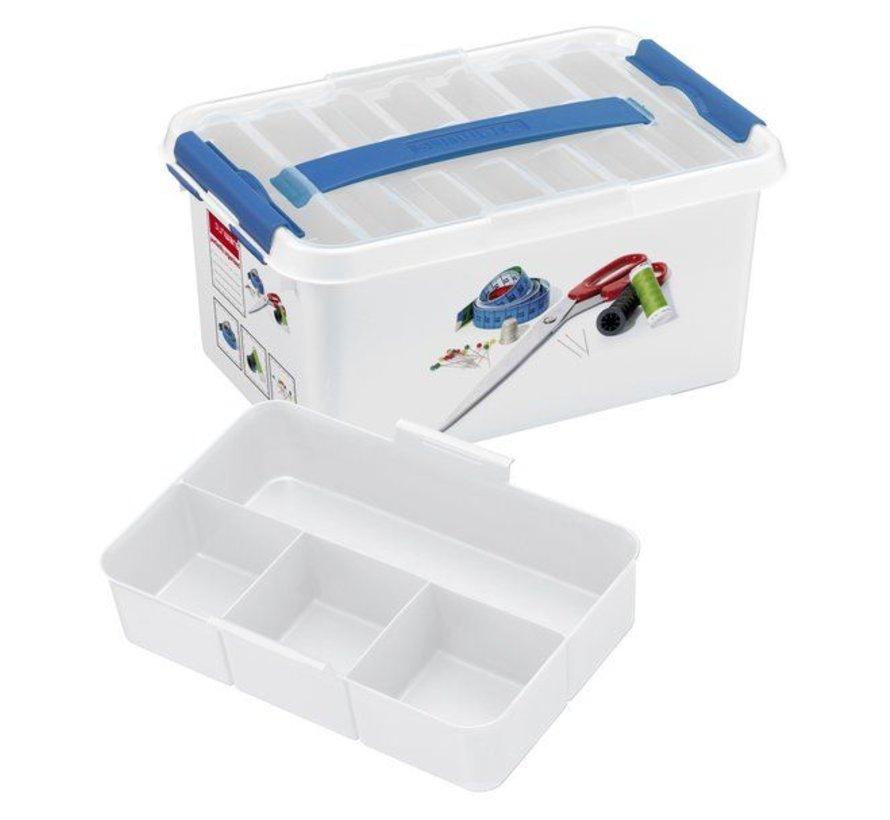 Sunware Q-Line Naaigarenbox mit Deckel 6 Liter