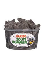 Haribo 150 stuks HARIBO Zoute Bommen - Voorraademmer voor thuis, kantoor of onderweg