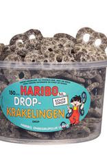 Haribo 150 stuks HARIBO Zoete Drop Krakelingen - Voorraademmer voor thuis, kantoor of onderweg