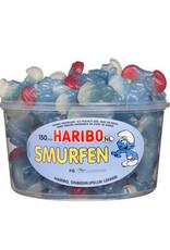 Haribo 150 stuks HARIBO Smurfen Blauw - Voorraademmer voor thuis, kantoor of onderweg