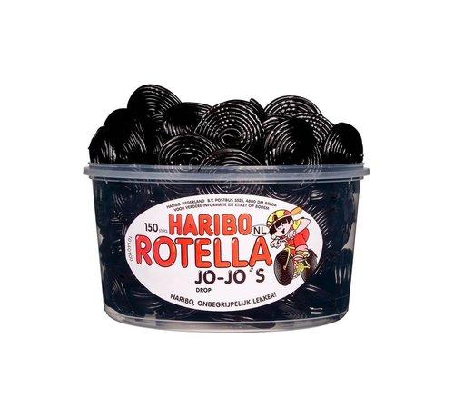 Haribo 150 stuks HARIBO Rotella Dropjojo - Voorraademmer voor thuis, kantoor of onderweg