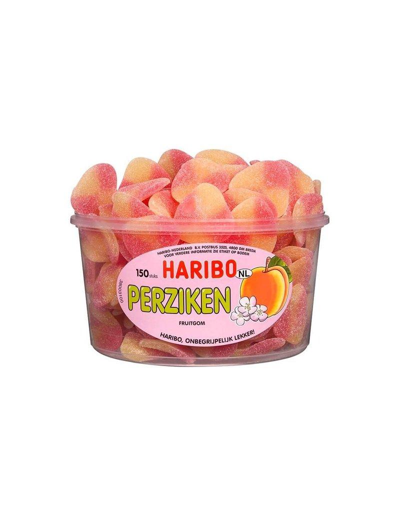Haribo 150 stuks HARIBO Perziken - Voorraademmer voor thuis, kantoor of onderweg