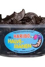 Haribo 150 stuks HARIBO Halve Manen Drop - Voorraademmer voor thuis, kantoor of onderweg