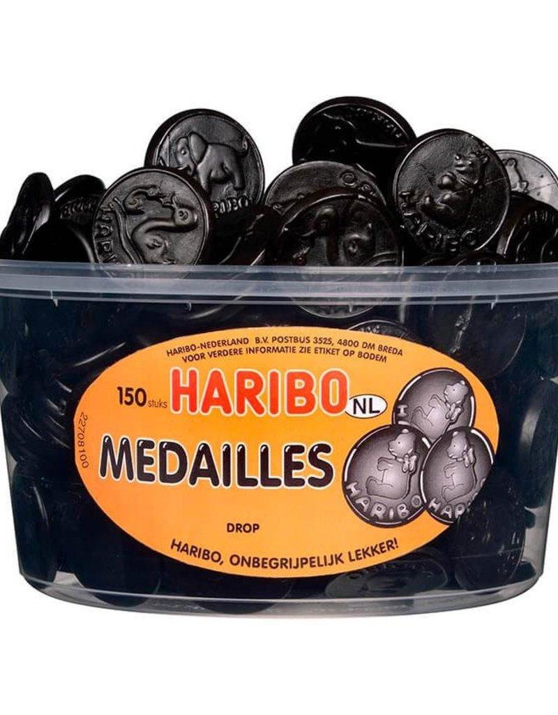Haribo 150 stuks HARIBO Drop Medailles - Voorraademmer voor thuis, kantoor of onderweg