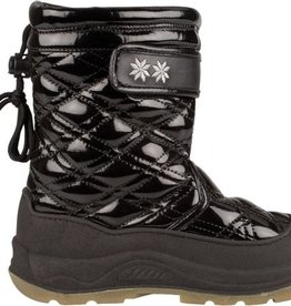 Winter-grip Quilt - Snowboots - Meisjes - Zwart - Maat 28