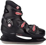 Nijdam 0099 Ijshockeyschaats  x  x L - Hardboot - Zwart/Rood - Maat 49
