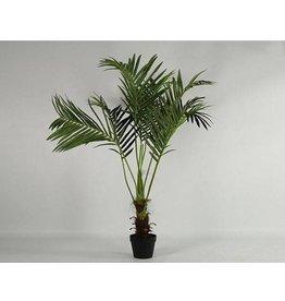 Kunstpalmboom Phoenix met grote palmbladeren - Hoogte 115 cm