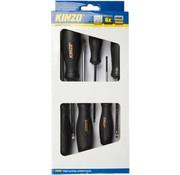 Kinzo Magnetic Schroevendraaiersset 6 Pieces
