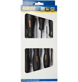 Kinzo Magnetische Schroevendraaiersset 6 stuks