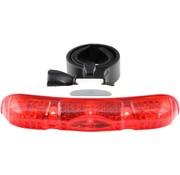 Fietsachterlicht met 5 led's - eenvoudige montage onder zadel - behuizing Wit - merk Dunlop