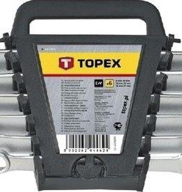 TOPEX Ring/steeksleutelset 6-19 mm