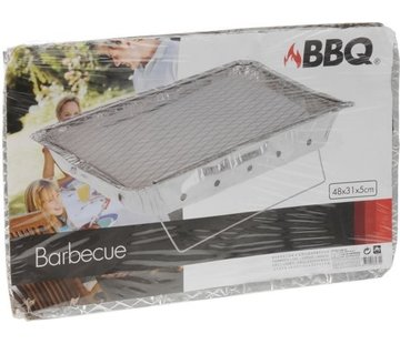 Instant BBQ disposable - 48 x 31 cm - 6 cm high - Including Coal
