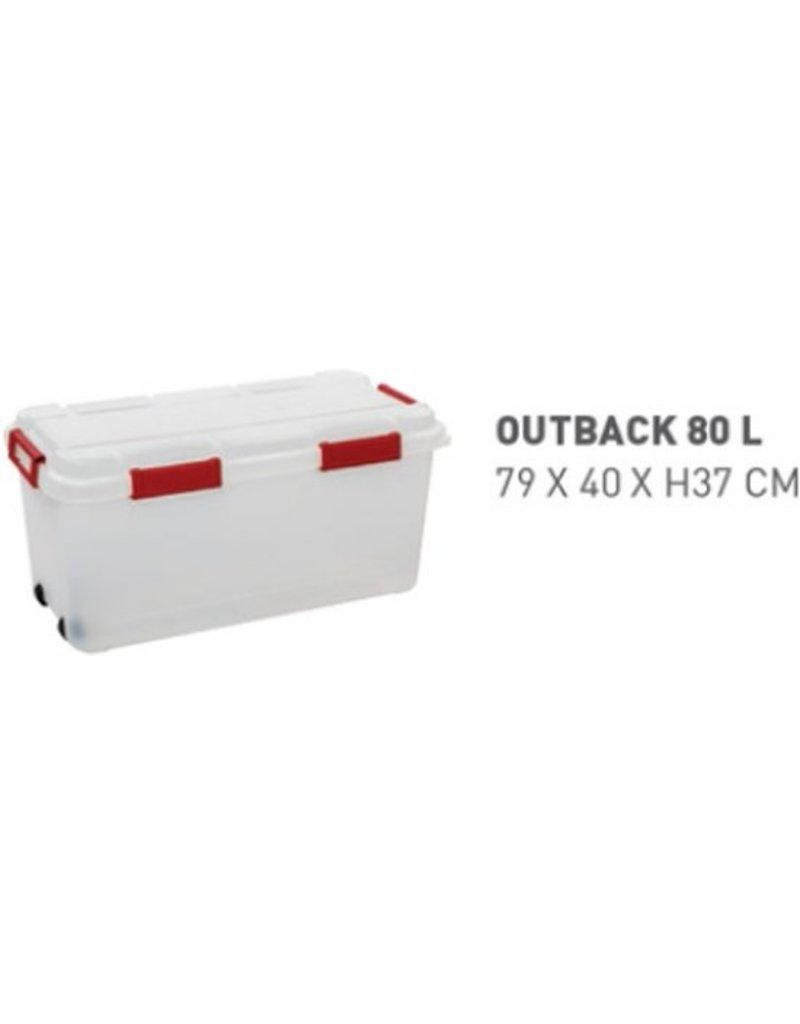 Allibert opbergbox 80 liter - Transparant - Afneembare deksel