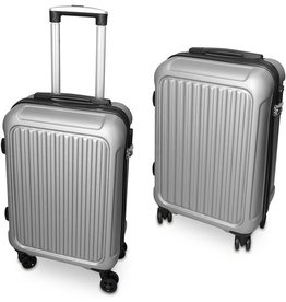 Harde kunststof reiskoffer 38 liter | geschikt als handbagage | Grijs