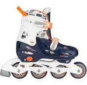 Nijdam Nijdam Junior Inline Skates Junior Adjustable - Hard Boot - Navy / White / Orange - 27-30