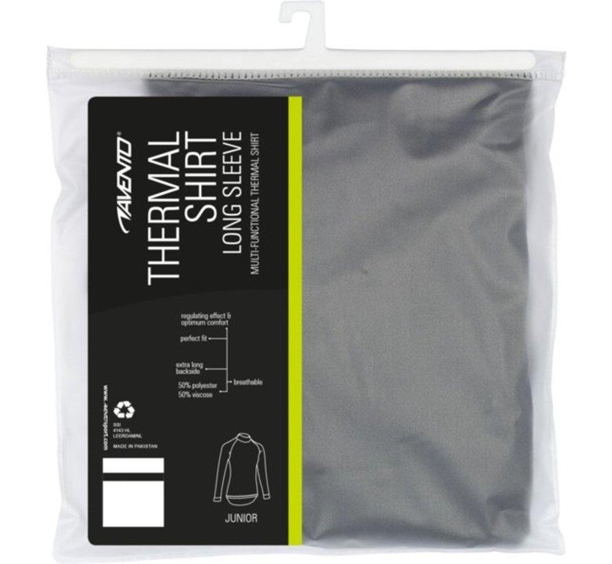 Avento Thermoshirt Lange Mouw - Junior - Zwart - 128