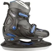 Nijdam Nijdam 3024 Junior Ice Hockey Skates - Adjustable - Hard Boot - Black / Blue - Size 30-33