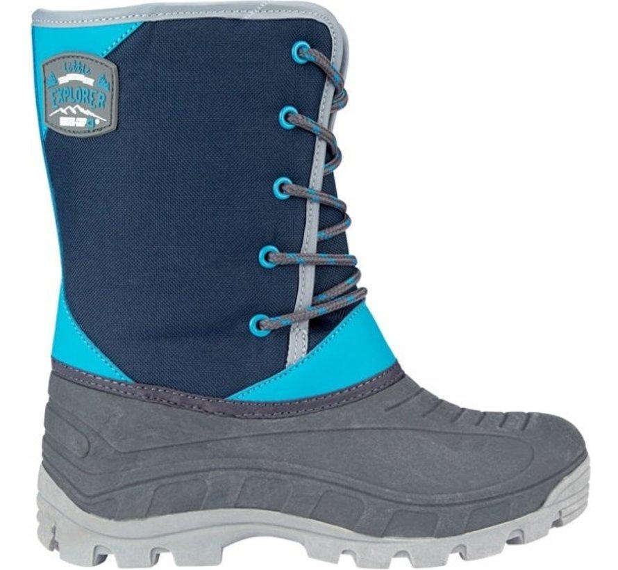 Wintergrip Snowboots - Maat 29-30 - Unisex - Blauw/Grijs
