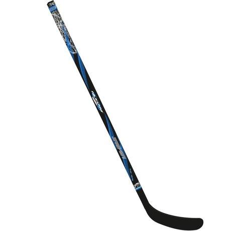 Nijdam Nijdam Eishockey Schläger Holz / Fiberglas Jr - 137 cm - Schwarz / Blau / Silber - Links