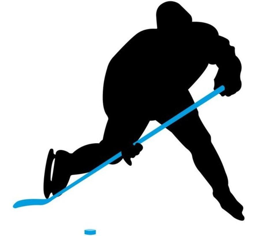 Nijdam Eishockey Schläger Holz / Fiberglas Jr - 137 cm - Schwarz / Blau / Silber - Links