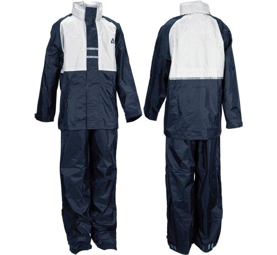 Ralka Regenpak - Kinder - Unisex - Größe 152 - Navy / Weiß