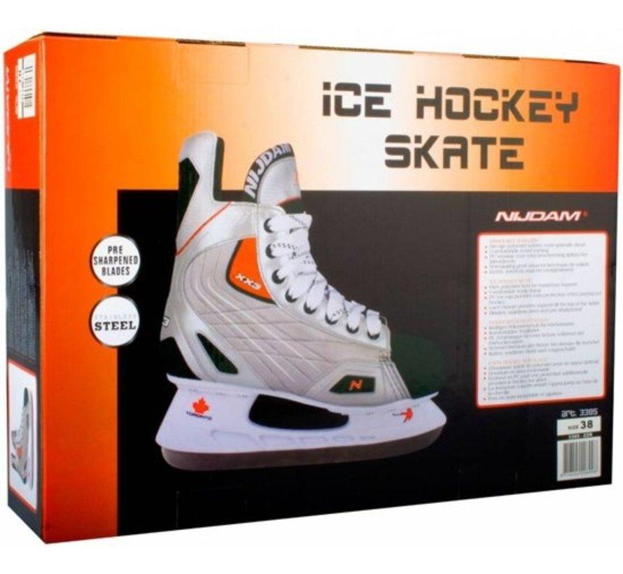 Nijdam 3382 Pro Line Hockey Skate - Skating - Unisex - Adult - Silver - Size 41