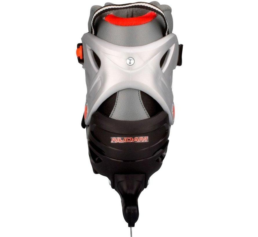 Nijdam 3414 Junior Norenschaats - Verstelbaar - Maat 35-38 - Semi-Softboot - Antraciet/Zwart