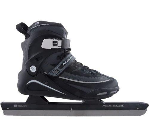Nijdam Nijdam 3429 Norwegians Skate Pro-Line - Semi Soft Boot - Black / Gray - Size 39